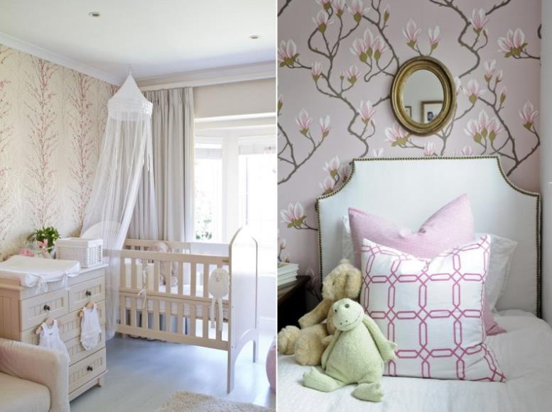 Обои для детской комнаты девочки на вырост