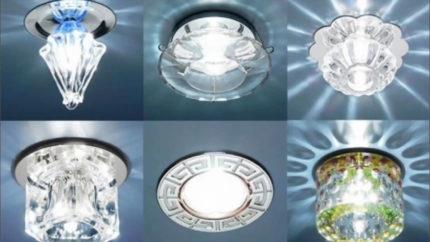 Дизайн накладных светильников
