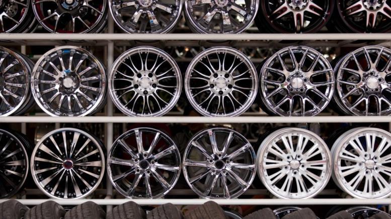 alloy car wheels wall