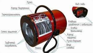 Конструкция тепловой электрической пушки на 220 В