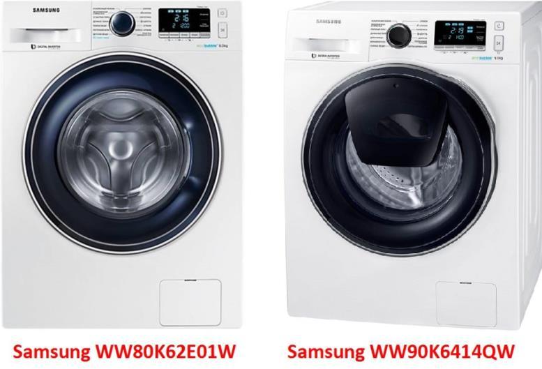 Samsung WW80K62E01W Samsung WW90K6414QW