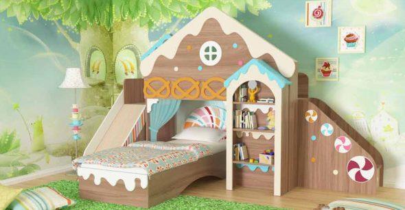 кровать прячничный домик для детей