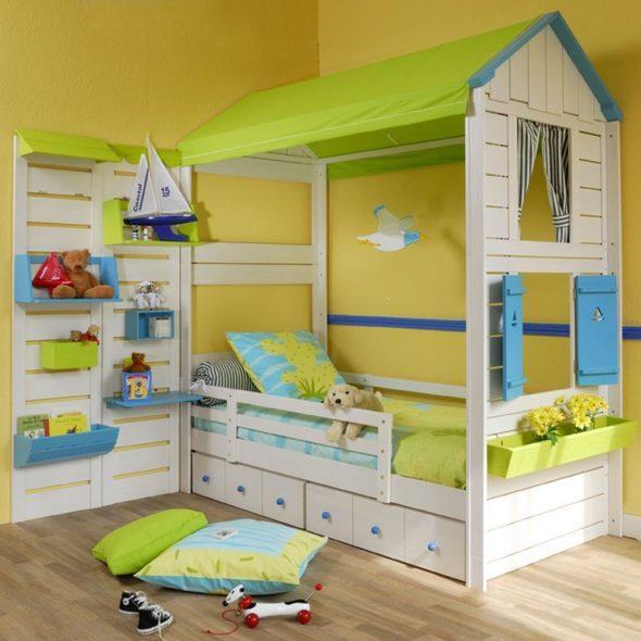 салатовый домик кровать