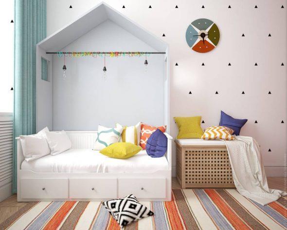 стильный домик кровать для ребенка