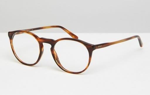 Круглые очки в черепаховой оправе Polo Ralph Lauren