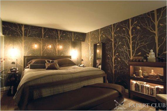 В спальне стоит не забывать про правильное освещение