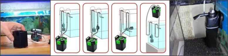 Внутренние и внешние аквариумные фильтры