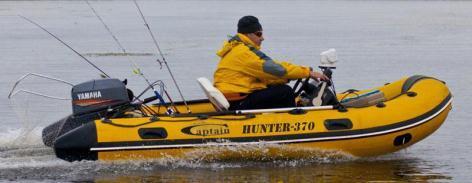 Надувная лодка RIB для рыбалки