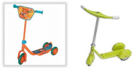 детский трёхколёсный самокат
