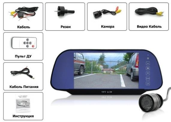 Особенности установки и подключения зеркал с видеорегистратором и камерой заднего вида