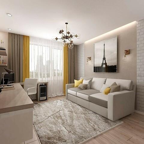 Карниз в современной гостиной