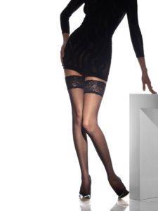 черные женские чулки