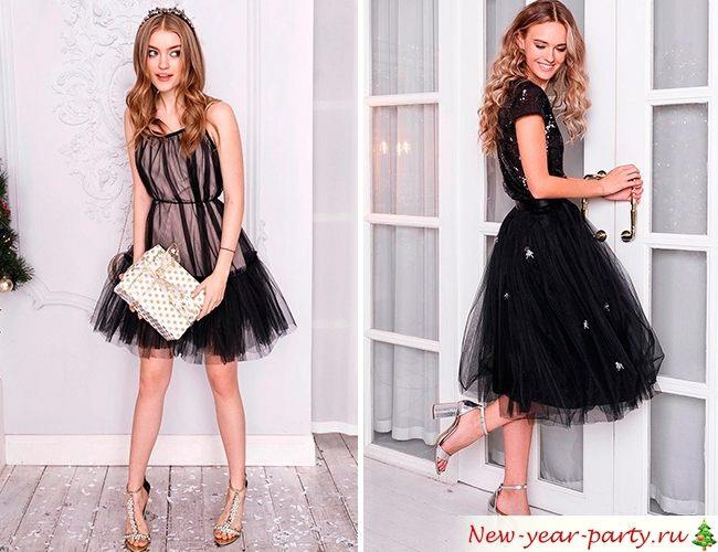 Черные модели платьев
