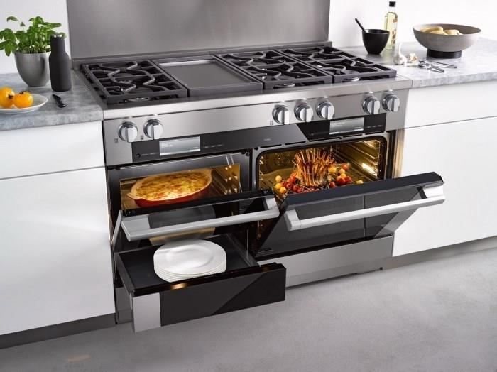 Комбинированная плита с двумя духовками