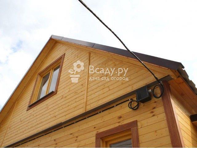 Подводка электрокабеля к деревянному дому