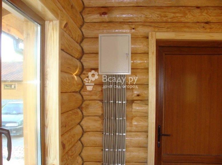 Распределительный щит для эл проводки в деревянном доме