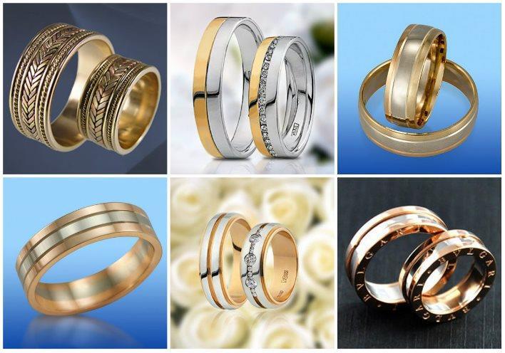 Обручальные кольца из нескольких видов металлов
