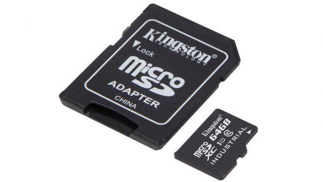 Карта памяти MicroSD Kingston Industrial Class 10 U1