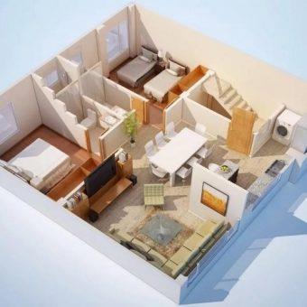 дизайн проект кухни квартиры