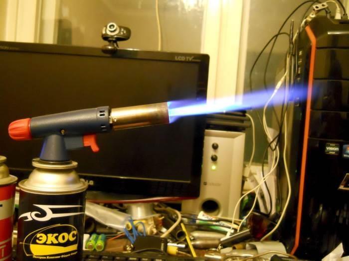 Использование газовой горелки в домашних условиях
