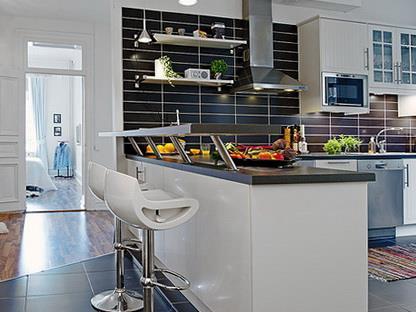 Как бар вписывается в интерьер кухни