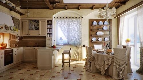 Барная стойка в интерере кухни