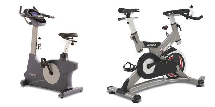 Две модели профессиональных велотренажеров
