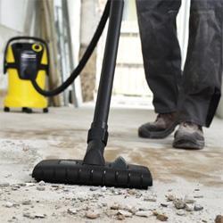 работа строительным пылесосом