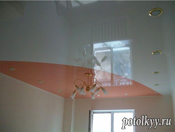 цвет натяжного потолка в зале