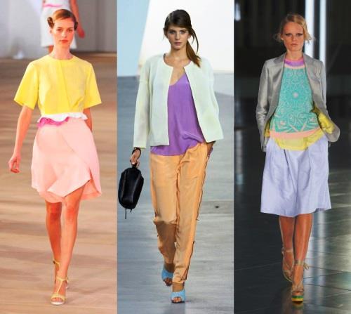 Значение пастельных цветов в одежде