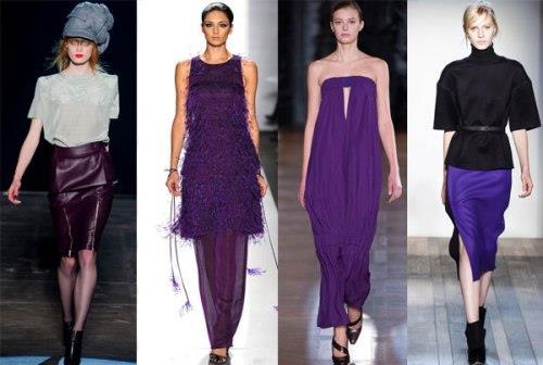 Значение фиолетово-сиреневого цвета в одежде
