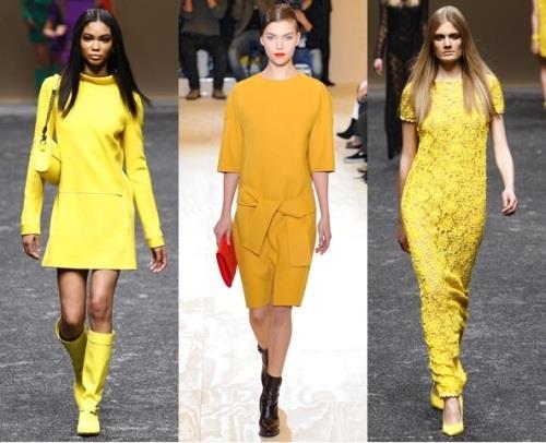 Значение желтого цвета в одежде