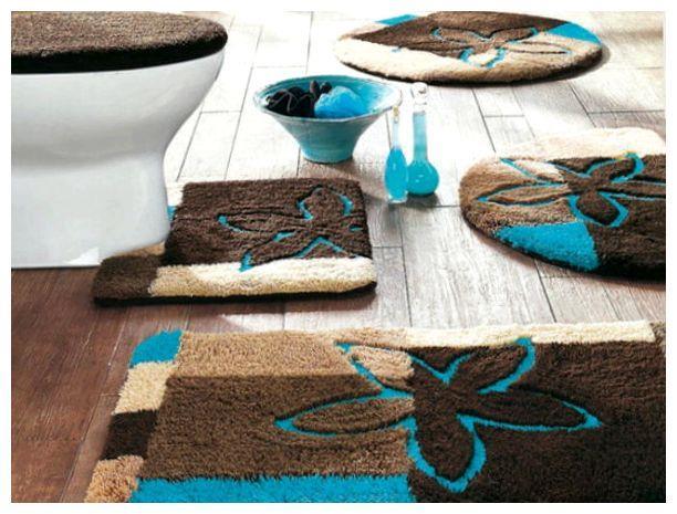 Интересные коврики в ванную