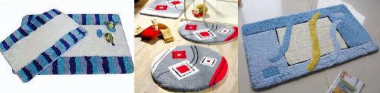 Вариации акриловых ковриков для ванны