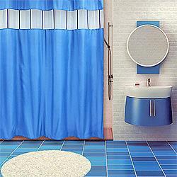 Занавеска для ванной в интерьере (фото)