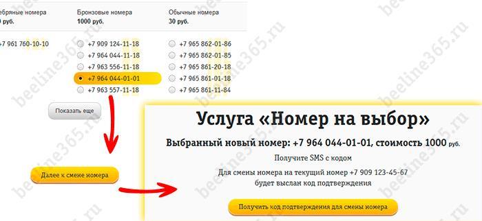 Замена старого номера Билайн на новый через интернет