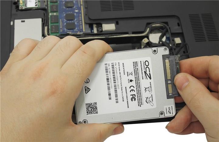 Замена жесткого диска на ноутбуке