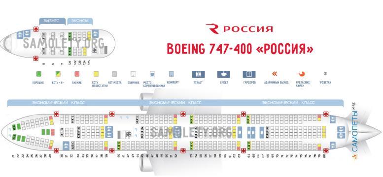 в самолете Боинг 747 400: