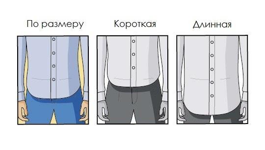 Длина рубашки