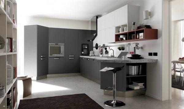 Серо-белая кухня