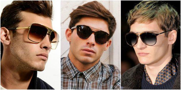 Модные мужские очки с дополнительной металлической «бровью»