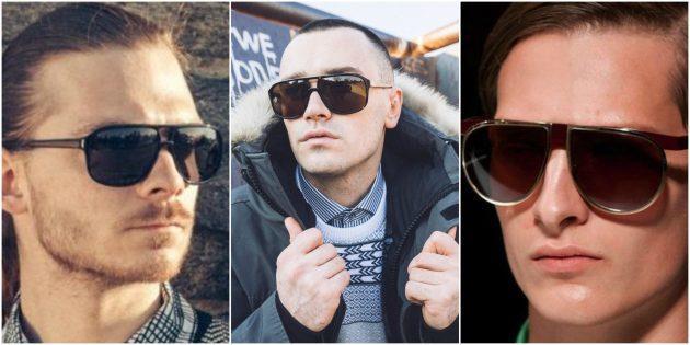 Модные мужские очки: Авиаторы оверсайз