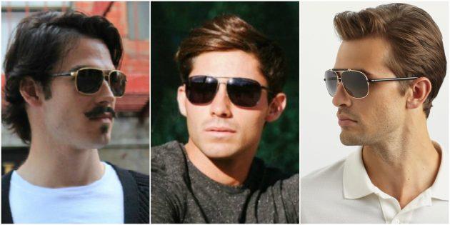 Модные мужские очки-навигаторы