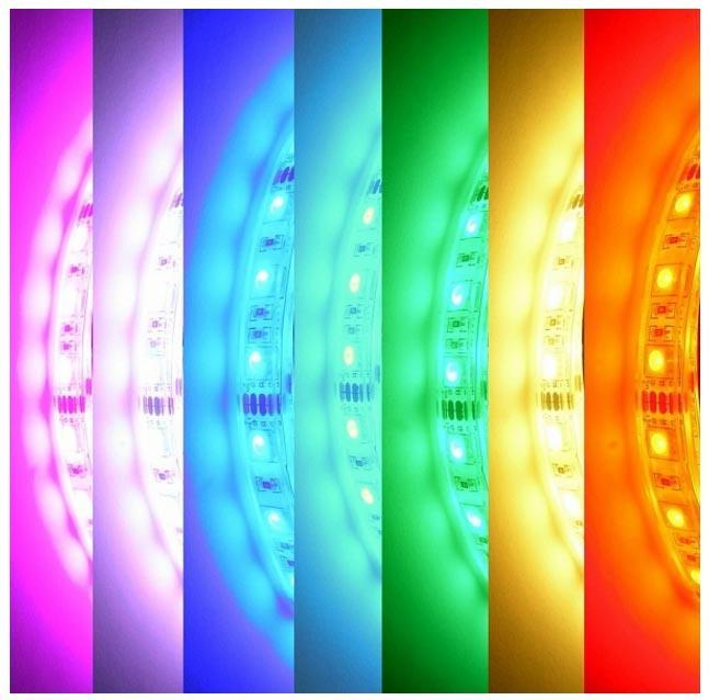 разноцветная подсветка rgb светодиодной лентой