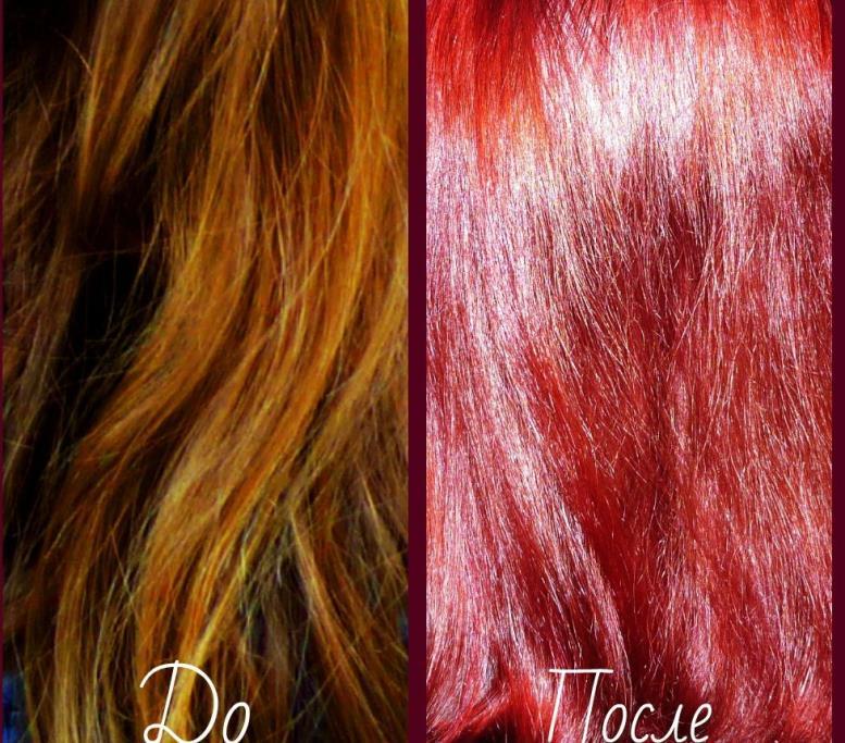 Тоник для волос до и после