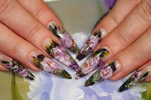 Аквариумный дизайн ногтей фото