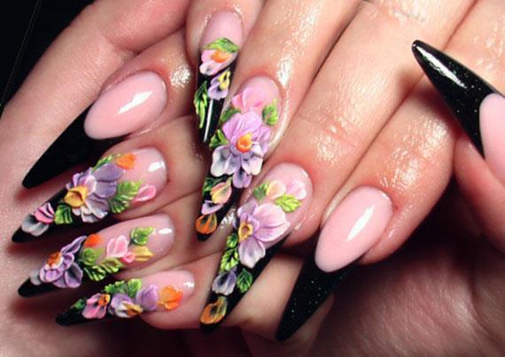 Акриловая лепка на ногтях