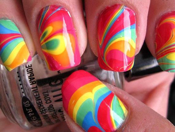 Водный дизайн ногтей фото