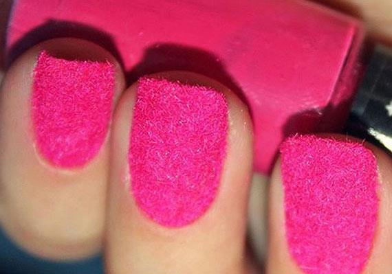 Бархатный дизайн ногтей