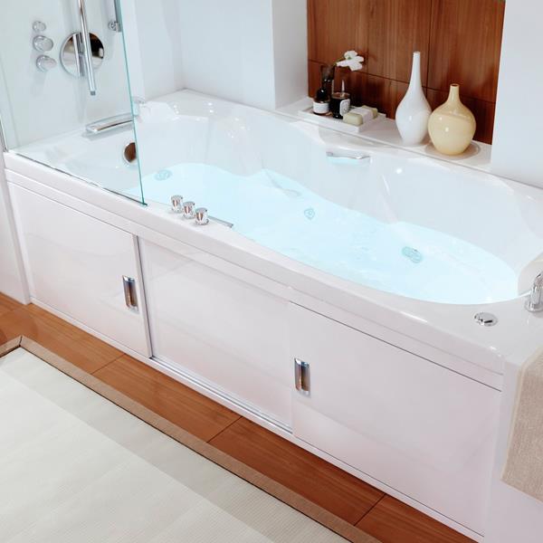 Экран под ванну раздвижной МДФ Still, белый